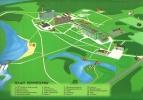 Схема расположения корпусов санатория Нижне Ивкино