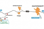 Схема проезда к санаторию Нижние серги